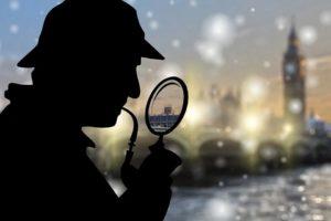 探偵に飛び付かない